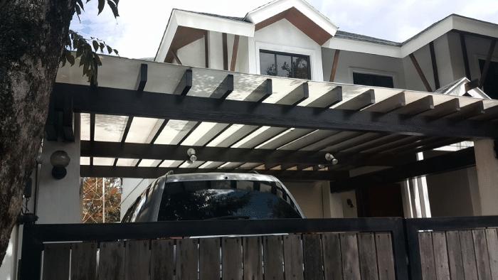 Fiberglass roof for garage