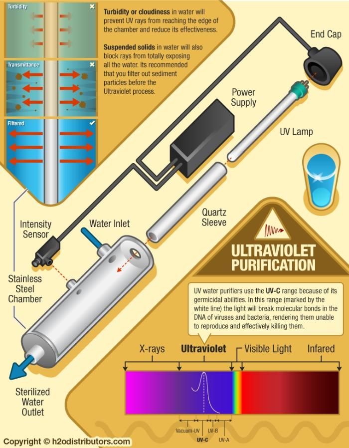 UV light filter diagram