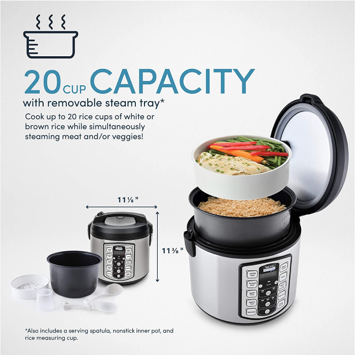 rice cooker with 20 cup capacity