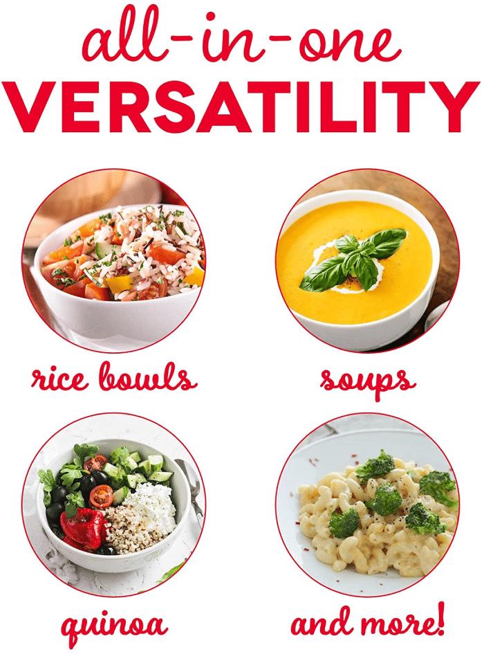 rice bowl, soup, quinoa