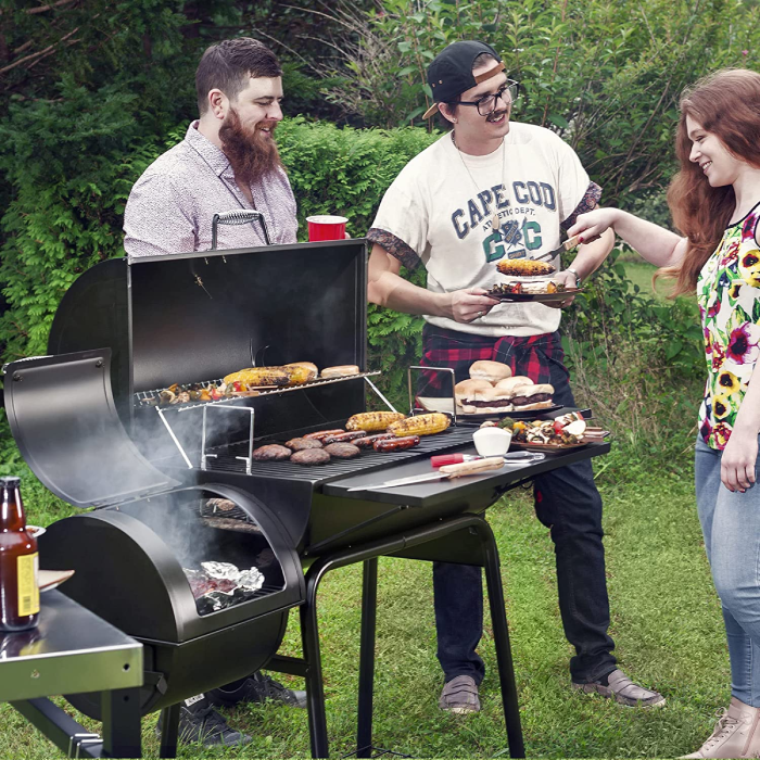 friends having a bbq party