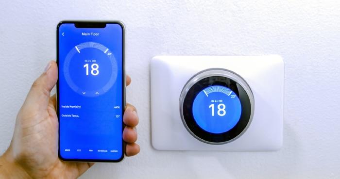 phone and HVAC system