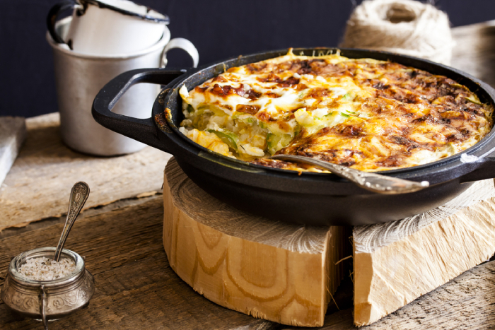 casserole cooked in dutch oven