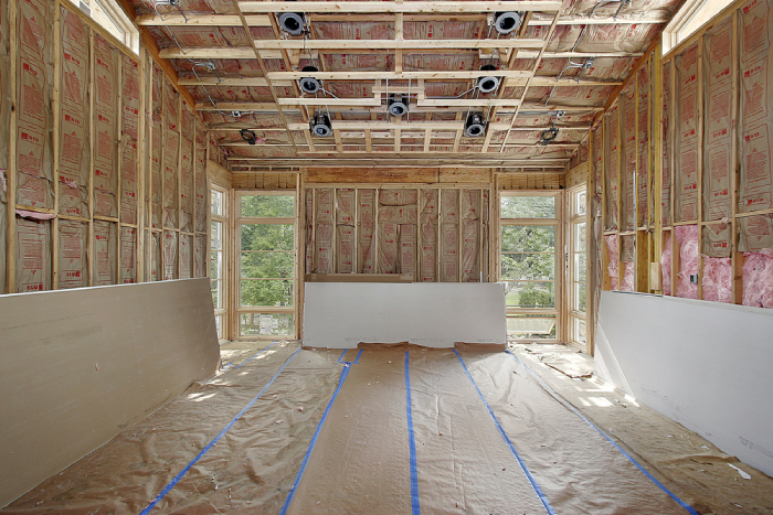 installing of drywall for internal walls