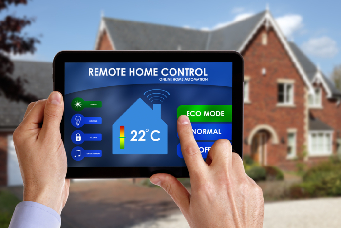 thermostat in a tablet for remote home control