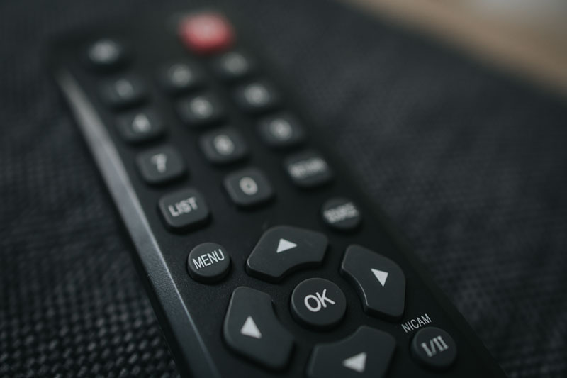 Menu button on tv remote