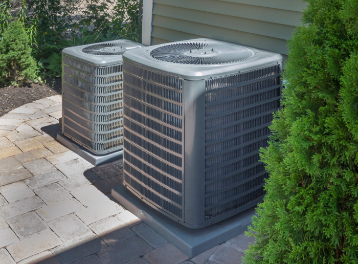 outside unit of air conditioner