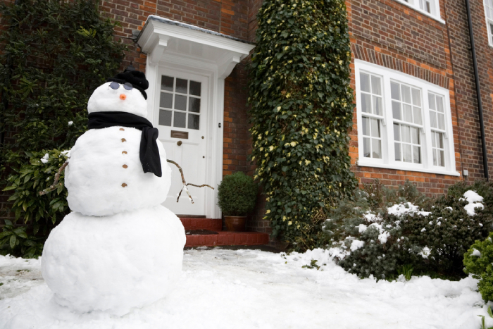 Snowman on the entry way