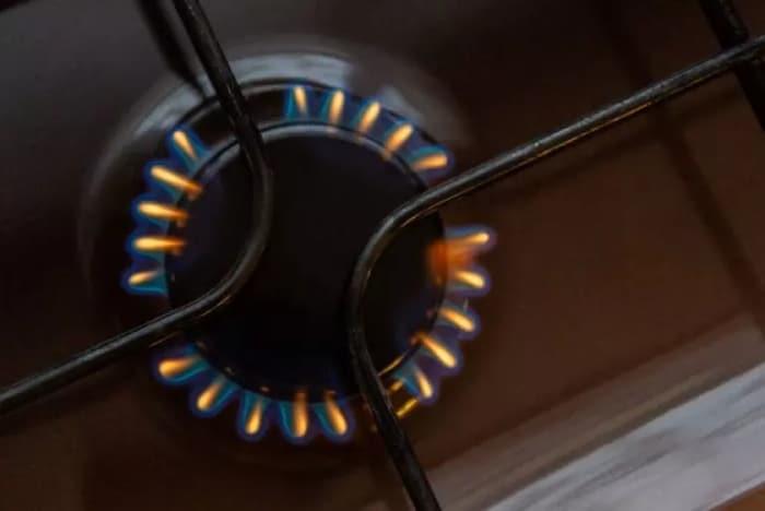 orange flame from burner
