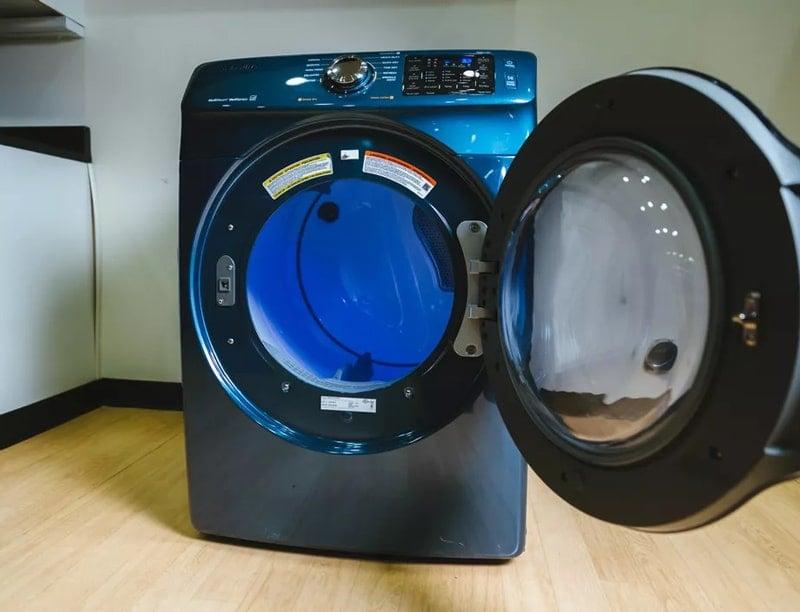 Dryer with the door open